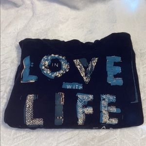 """Aerie Hoodie """"In love with life"""""""